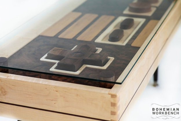 21-man-cave-ideas-Nintendo-Controller-Coffee-Table