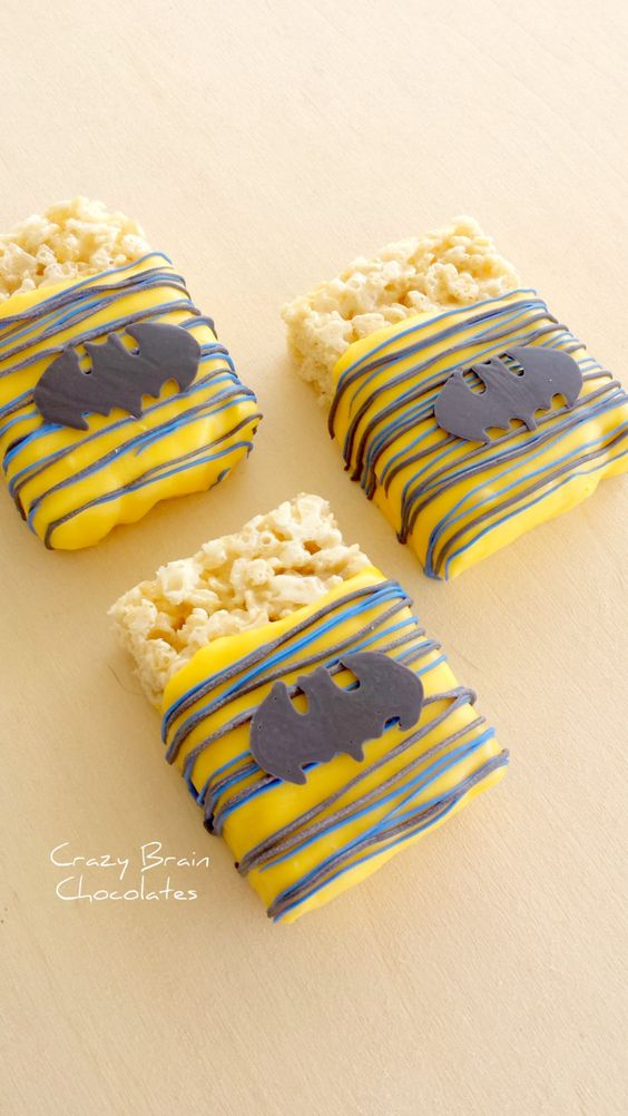 Batman-Birthday-Party-Ideas-for-kids-Batman-Chocolate-Dipped-Rice-Crispies