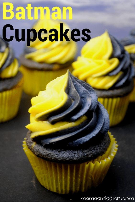 Batman Birthday Party Ideas For Kids Cupcakes