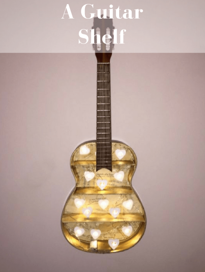 How to make this awesome guitar shelf