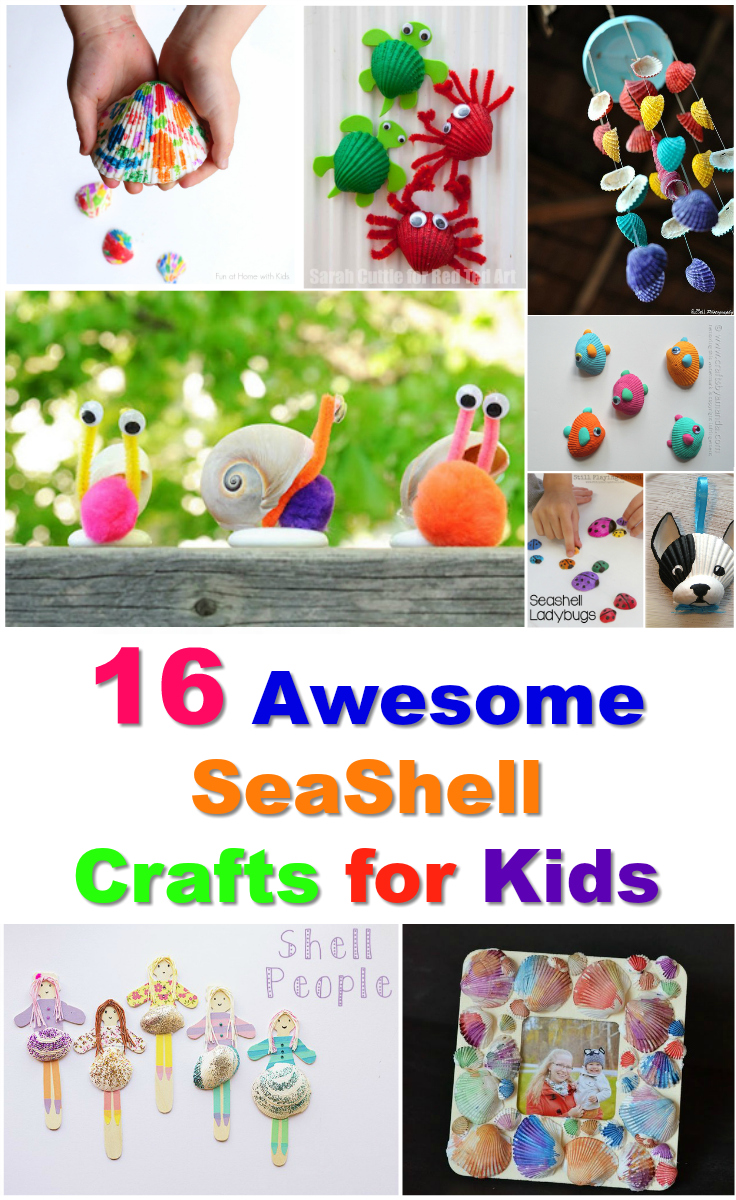 16 awesome seashell crafts for kids