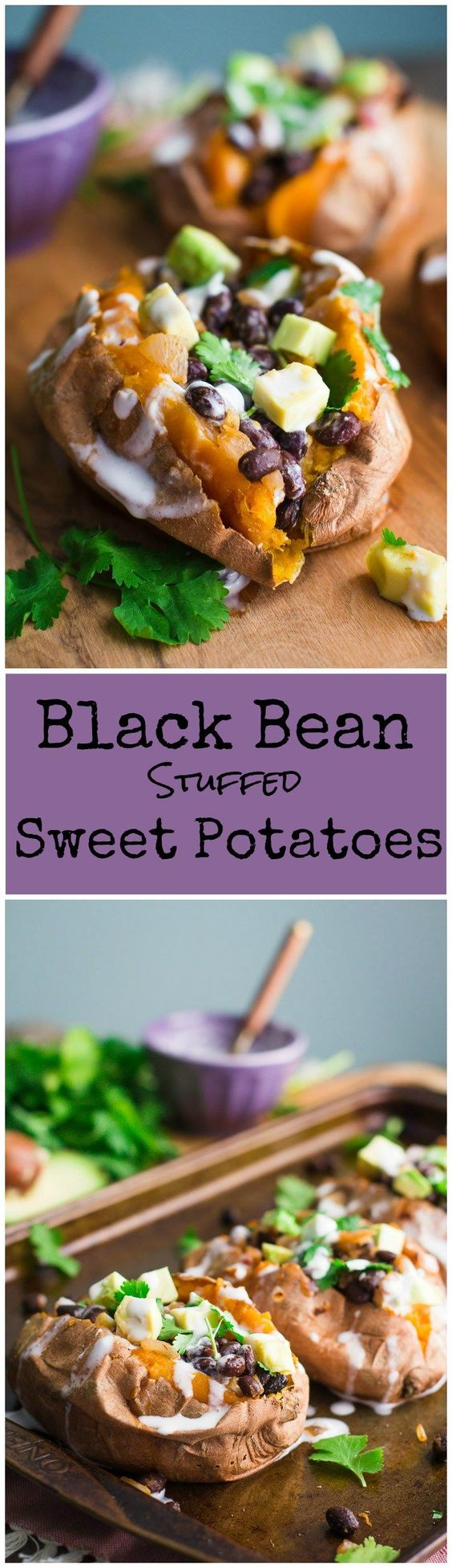 Black Bean Stuffed Sweet Potatoes Healthy Recipes on a Budget