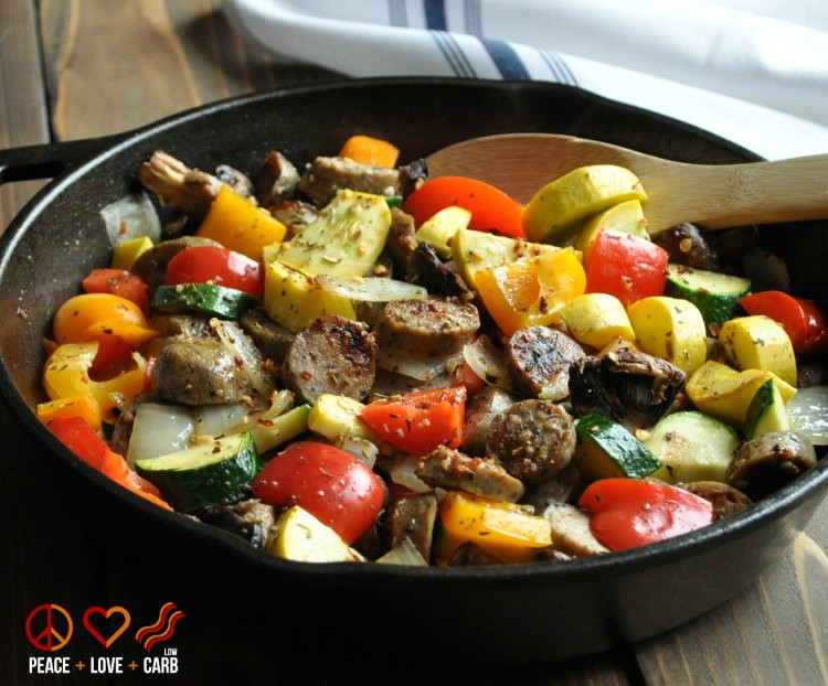 Chicken-Sausage-and-Vegetable-Skillet-Low-Carb-Paleo-Gluten-Free