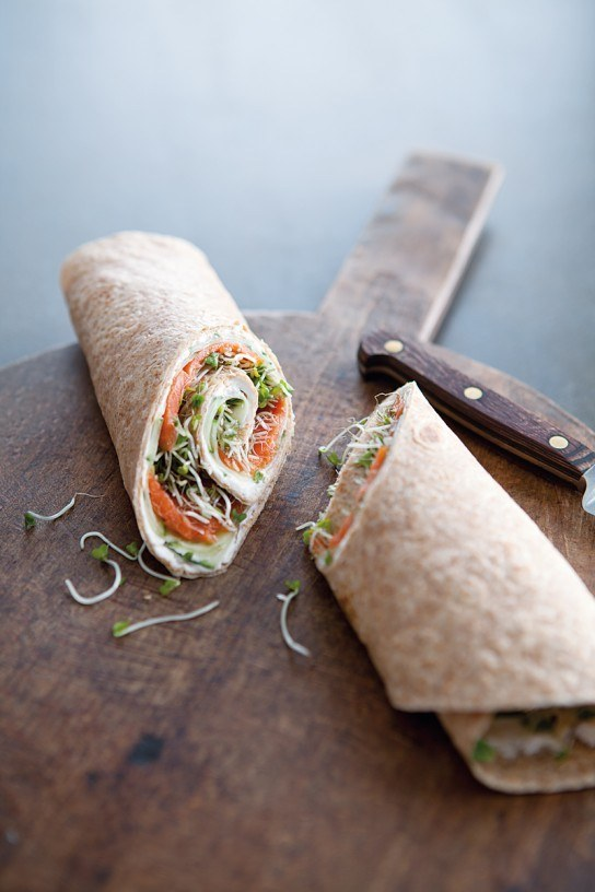 Healthy Breakfast Recipes Smoked Salmon & Cucumber Wraps