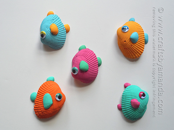 Seashell Craft Ideas Tropical Seashell Fish