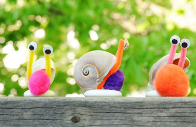 Seashell craft ideas Seashell Snails