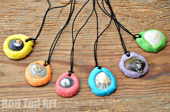 Seashell crafts ideas shell pendants