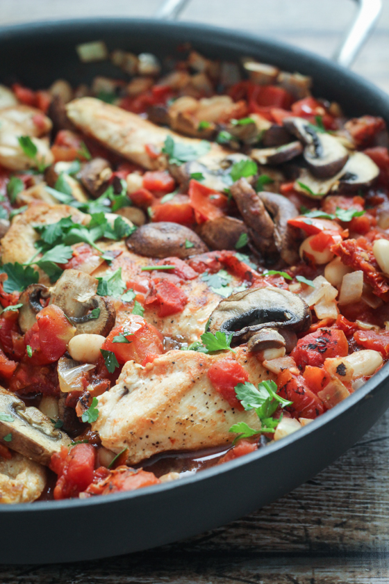 Tuscan-Chicken-Skillet