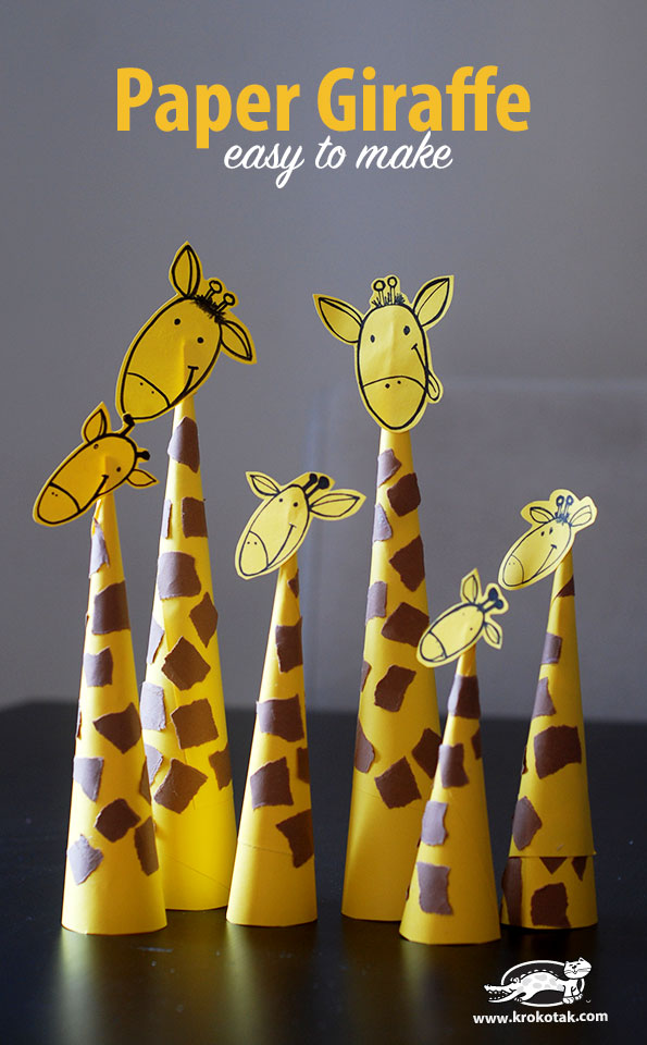 paper-craft-giraffes