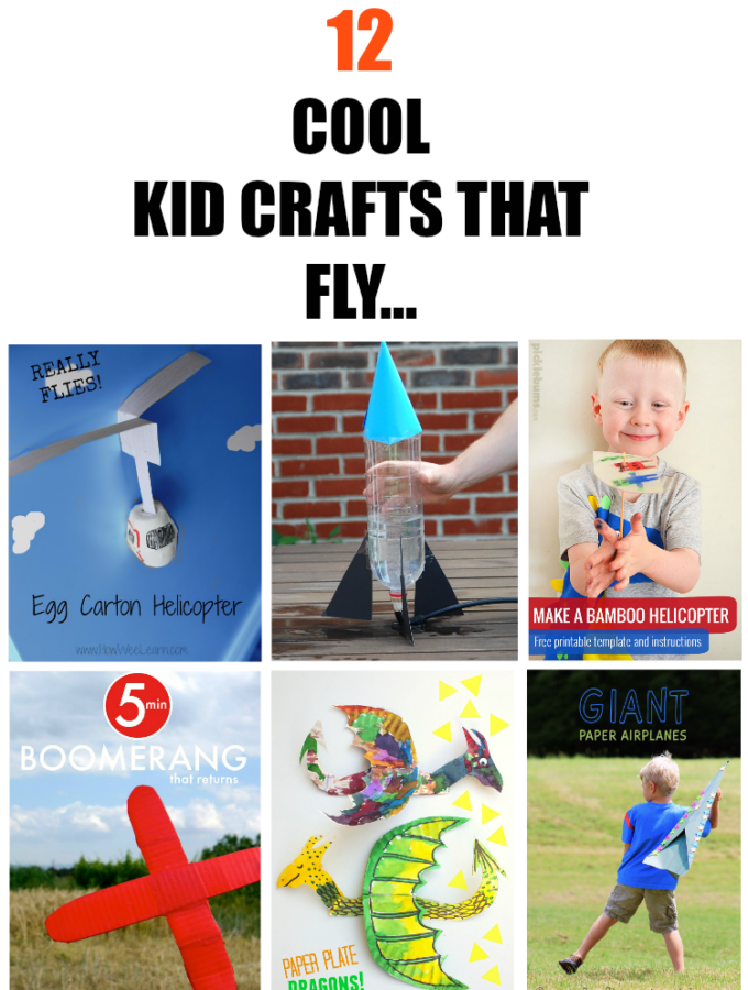 12 Cool Kids Crafts that fly