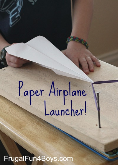 Make-a-paper-airplane-launcher