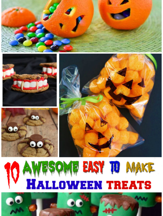 10 Awesome Easy to Make Halloween Treats for kids