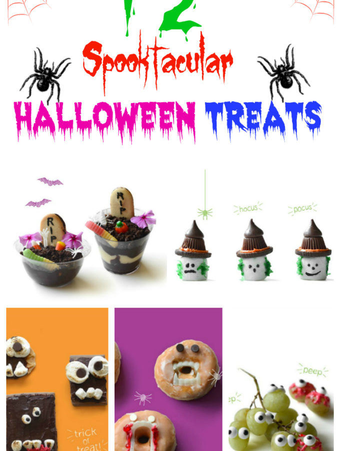 12 Amazing Spooktacular Halloween Treats for Kids Infographic