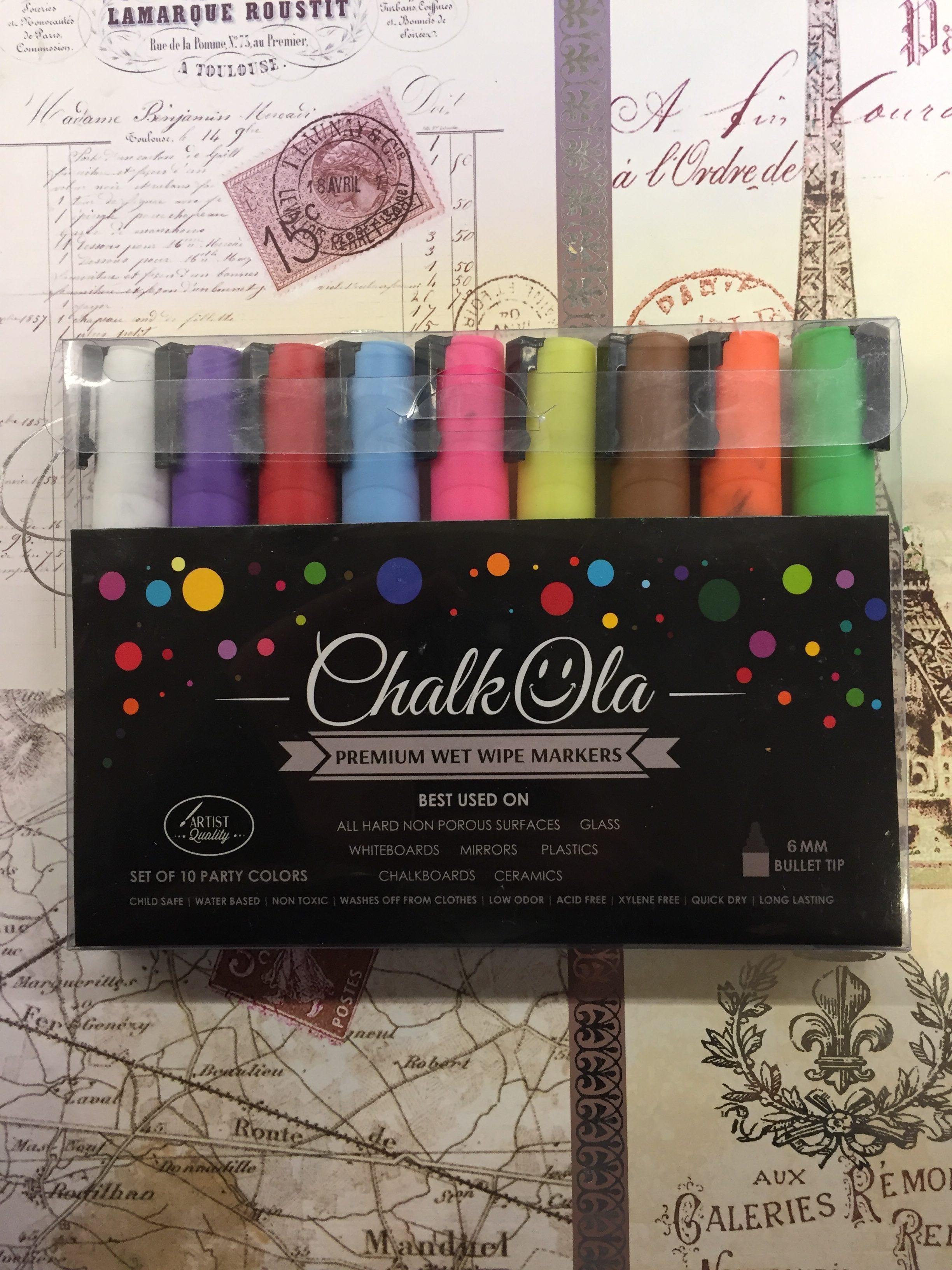Chalkola Premium wet wipe markers neon colours Review