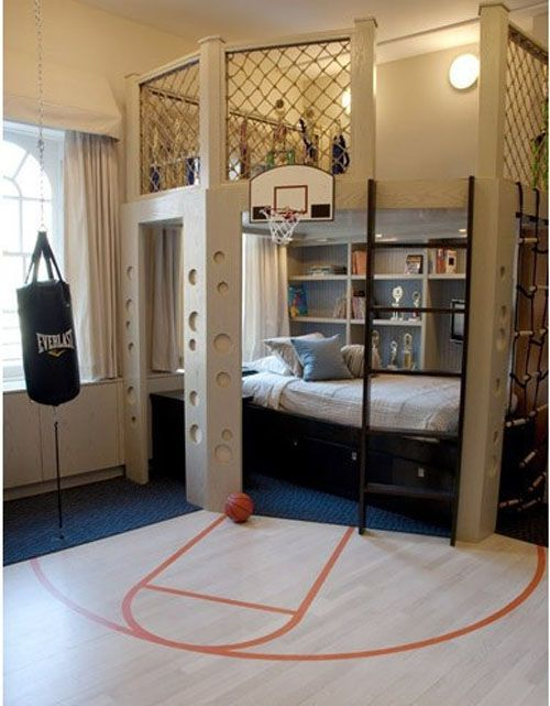 15 Cool Kids Room Ideas - Basket Ball Bedroom Decor
