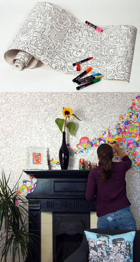 15 Cool Kids Room Ideas - Colour In Wallpaper