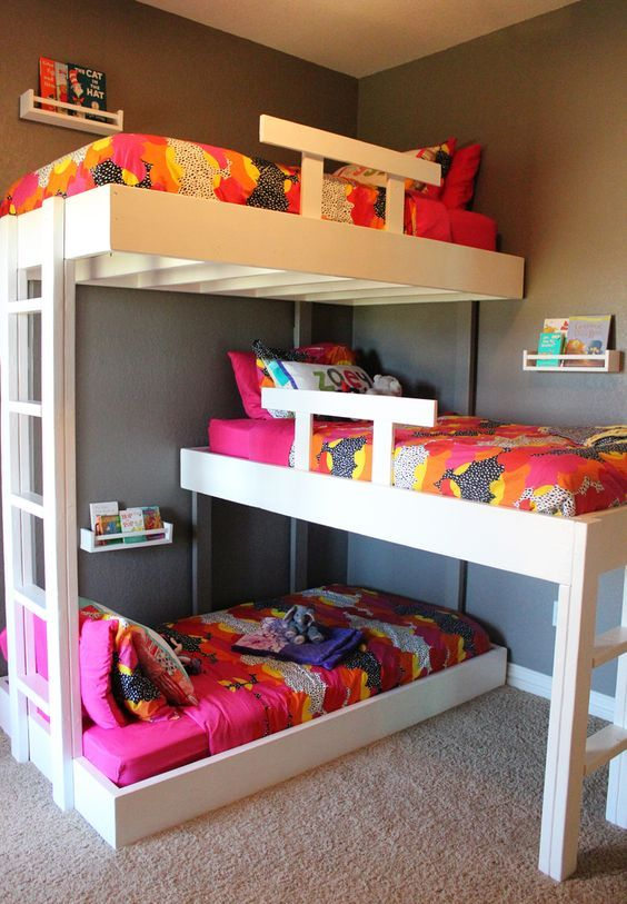 15 Cool Kids Room Ideas - DIY Bunk Beds for a small area