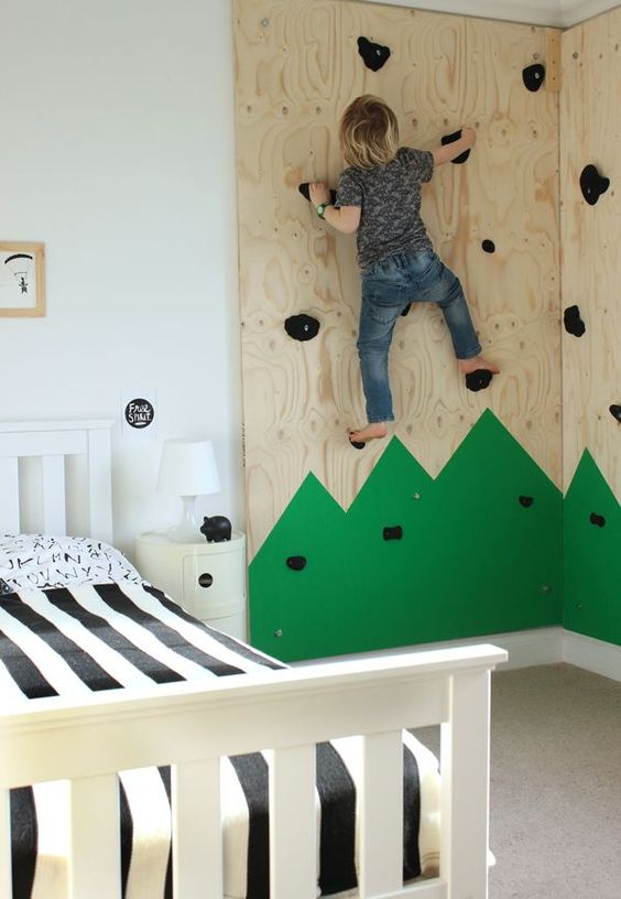 15 Cool Kids Room Ideas - DIY Climbing Wall