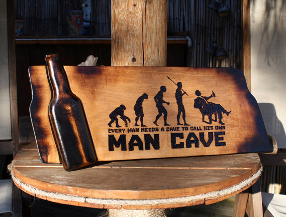 Awesome Man Cave Gifts : Amazing man cave signs that look dads bible